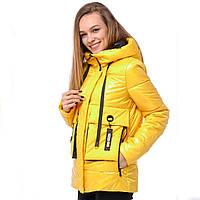 Желтая женская куртка (42-50) демисезон