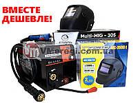 Сварочный полуавтомат инверторный Сталь MULTI-MIG-305 PROFI + Маска Хамелеон Forte МС-3500E