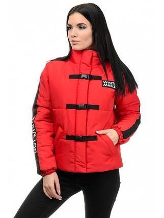 Куртка женская демисезонная (красный), фото 2