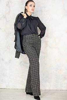 Модные брюки с высокой посадкой Джанет черные