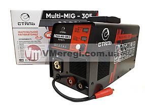 Сварочный полуавтомат инверторный Сталь MULTI-MIG-305 PROFI + Омедненная сварочная проволока (0,8 мм; 5 кг) По, фото 3