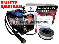 Сварочный полуавтомат инверторный Сталь MULTI-MIG-305 PROFI + Омедненная сварочная проволока (0,8 мм; 5 кг) По