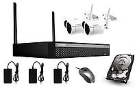 Комплект видеонаблюдения NVR (HDD 1Tb )+ 2х2MP ONVIF WIFI3604DE2SF200