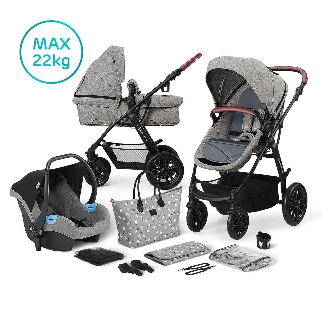Универсальная коляска 3 в 1 Kinderkraft Xmoov Gray