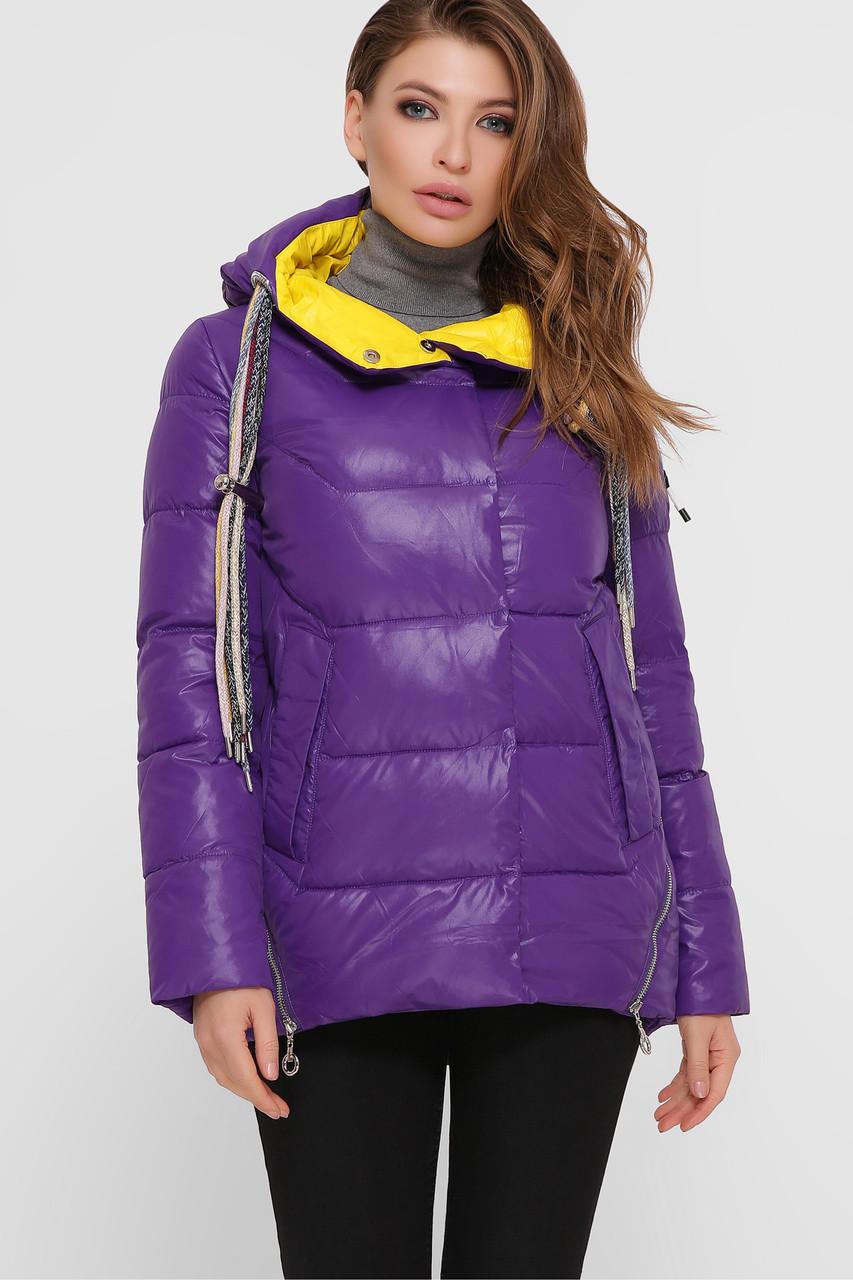 Яркая женская куртка фиолетового цвета,  размер 46-52