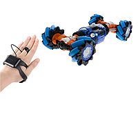 Трюковая машинка-багги светящаяся, управление от руки + пульт
