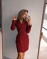 Платье-пиджак бордового цвета 42-44, 44-46 р.