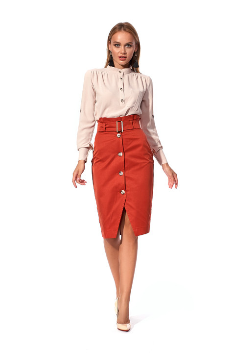Стильная юбка - карандаш с завышенной талией.Разные цвета