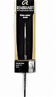 Пензель для акварелі REMBRANDT, Білка Petit Gris Pure, круглий, Серія 114, №2, коротка ручка, Royal Talens