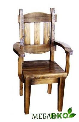 Состаренная мебель, Стул  Дубрава С Подлокотниками
