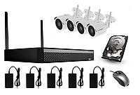 Комплект відеоспостереження NVR (HDD 2Tb )+ 4х5МР ONVIF WIFI3604D4SV500