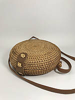 Сумка женская плетеная круглая