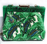 Женская сумка Dior с принтом Листья, код товара SU-60087В