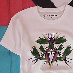 Футболка белая с принтом Givenchy art3