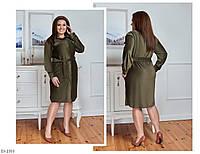 Модное вельветовое платье-халат на пуговицах  размеры 48-58 арт 2750