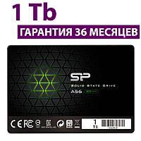"SSD диск 1 Тб, Silicon Power A56, SATA3, 2.5"", TLC, 560/530 MB/s (SP001TBSS3A56A25), ссд накопитель"
