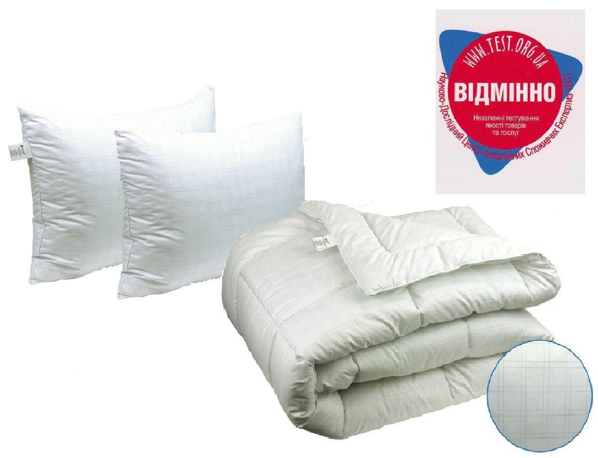 Одеяло евро 200х220 Карбоновая нить + 2 подушки 50х70 Anti-stress