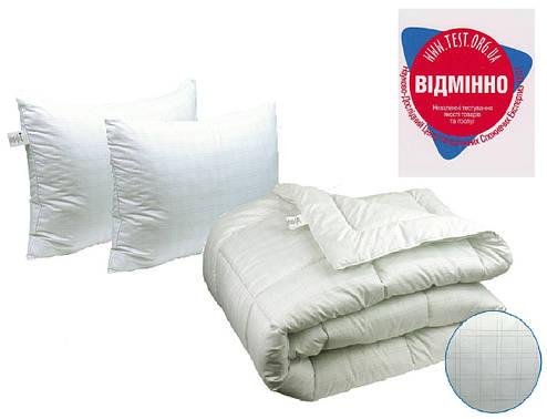 Одеяло евро 200х220 Карбоновая нить + 2 подушки 50х70 Anti-stress, фото 2