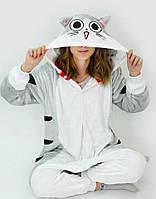 Костюм серый котик Чи кигуруми для взрослых