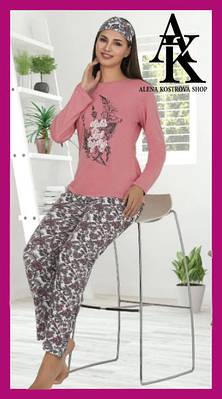 Жіноча котонова турецька піжама з пов'язкою Le'Maries