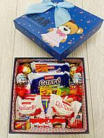 """Подарочный набор сладостей в коробке """"Подарок от Мишки"""""""