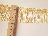 Бахрома декор  Світло-жовта пастельна ( ванільна ) 5,5 см. БД 0133