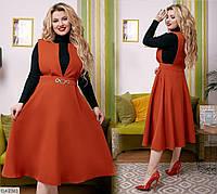 Батальное платье-сарафан размеры 48-58 арт 075