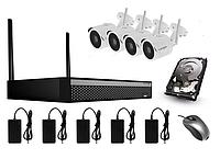 Комплект відеоспостереження NVR (HDD 1Tb )+ 4х2МР ONVIF WIFI3604DE4SF200