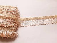 Бахрома декор шовковкова 4,5 см. Молочна з персиковим відтінко БД 0138