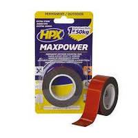 Лента двухсторонняя HPX MAXPOWER 25 мм х 1,5 м черная (блистер) OT2502