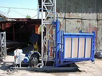Строительный подъемник мачтовый секционный с выкатной платформой СПМГ -1-1500