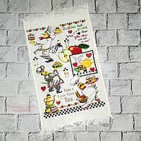 Кухонное полотенце с рисунком Повар, махровое, 40х60 см