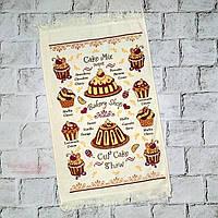Кухонное полотенце с рисунком Кексики, махровое, 40х60 см
