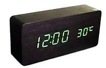Часы настольные VST ET 010 3792 с зеленой подсветкой