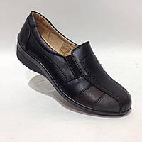 Туфли женские на низком ходу черные красивые модные, фото 1
