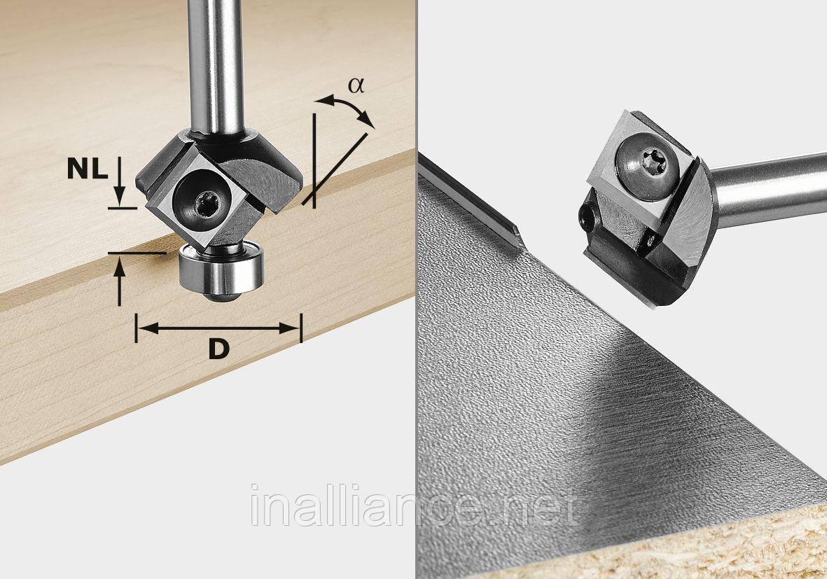 Фреза для профілювання фасок S8 HW 45° D27 12x12 KL Festool 499807