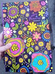 Книга канцелярская 80л (клетка) Мандарин интегральная обложка с микротиснением