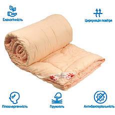 Одеяло полуторное Rose 140х205 с волокном Розы 250г/м2 Руно (321.52Rose Pink), фото 2