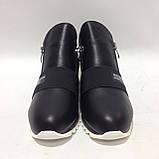 40 р. Женские ботинки весенне/осение на низком ходу черные красивые модные Последняя пара, фото 2