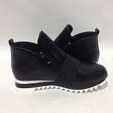40 р. Женские ботинки весенне/осение на низком ходу черные красивые модные Последняя пара, фото 5