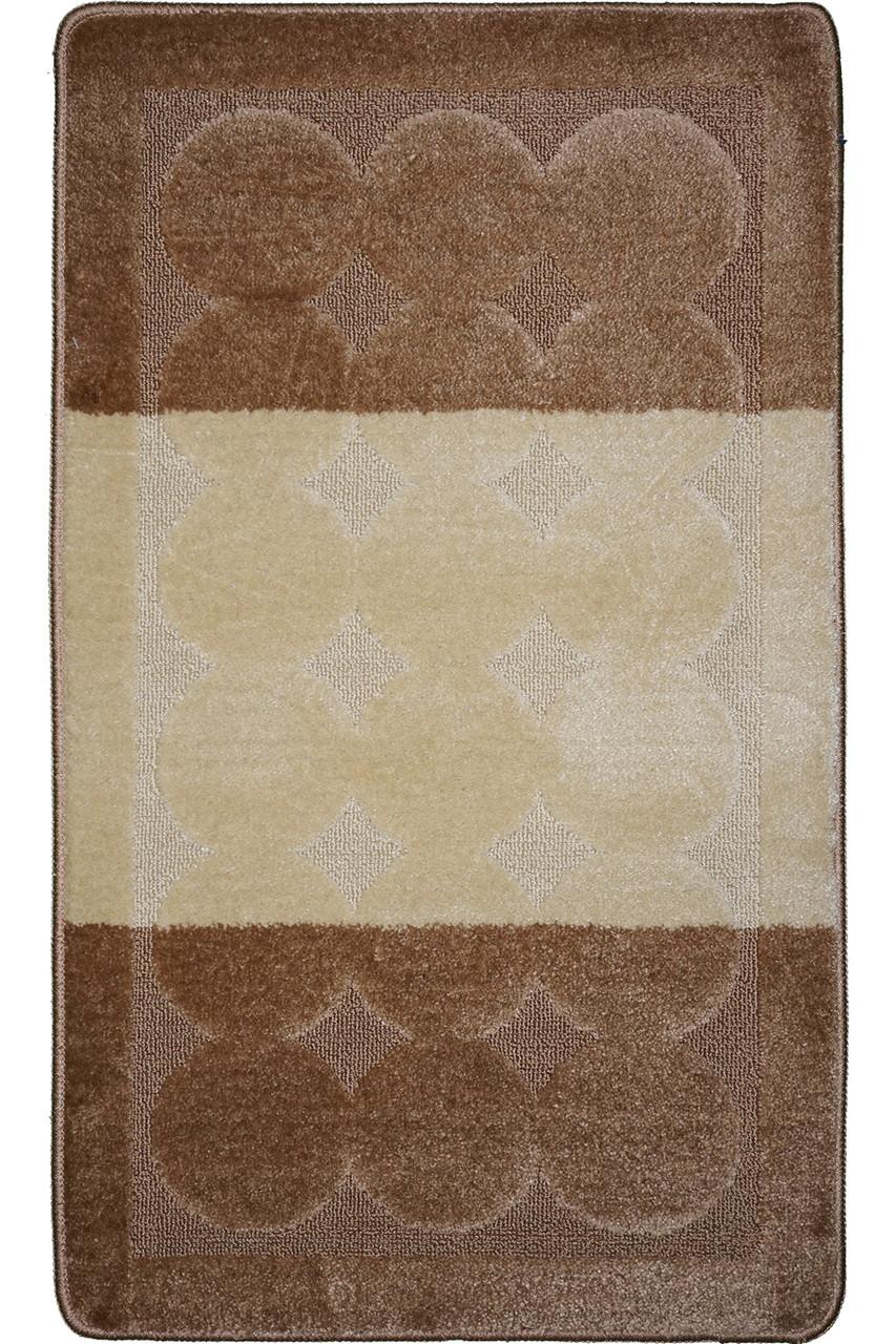 """Набор ковриков для ванной 50х40 см/50х80 см """"Галька"""", цвет коричневый"""