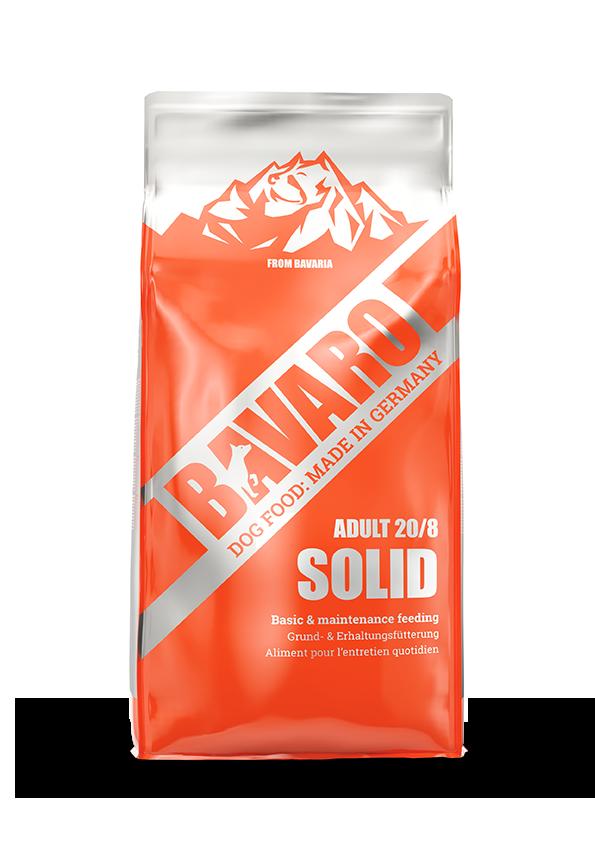 Bavaro Solid 20/8 18 кг. Корм для взрослых и пожилых собак