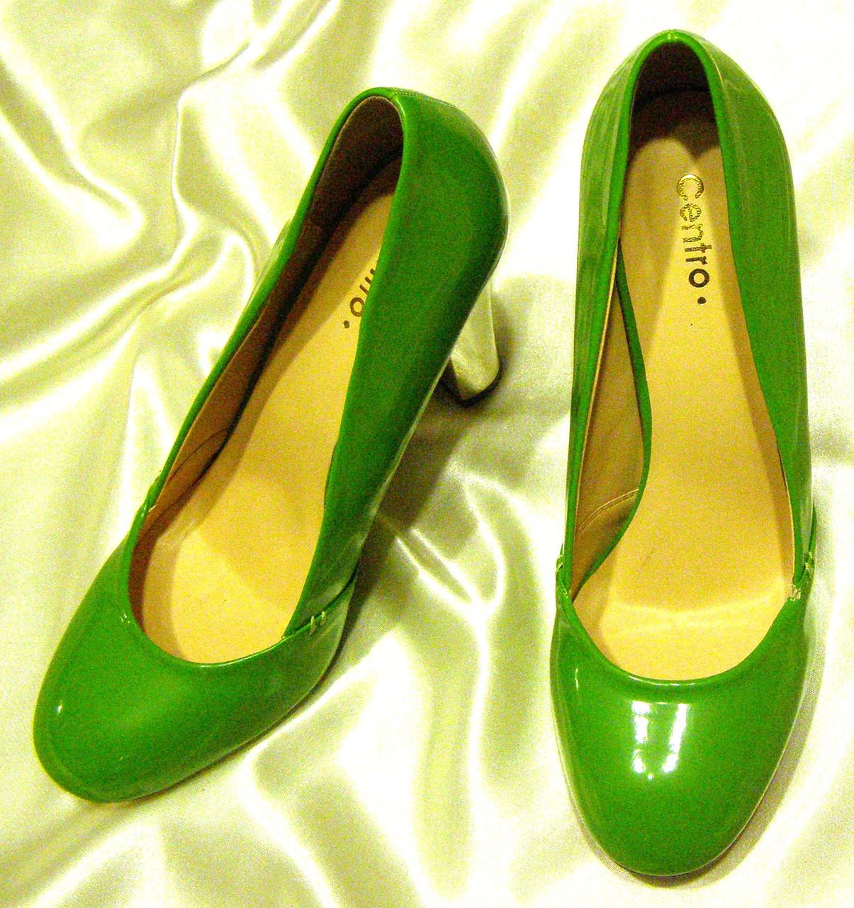 Туфли лакированные женские яркие 38 р (24 см)