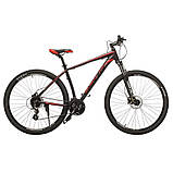 """Велосипед Oskar 29"""" JURA чорно-червоний, фото 4"""