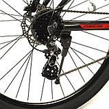 """Велосипед Oskar 29"""" JURA чорно-червоний, фото 5"""