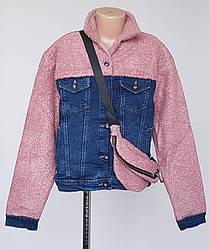 Джинсовая куртка «Ayugi Jeans» комбинированная с букле (134-164)