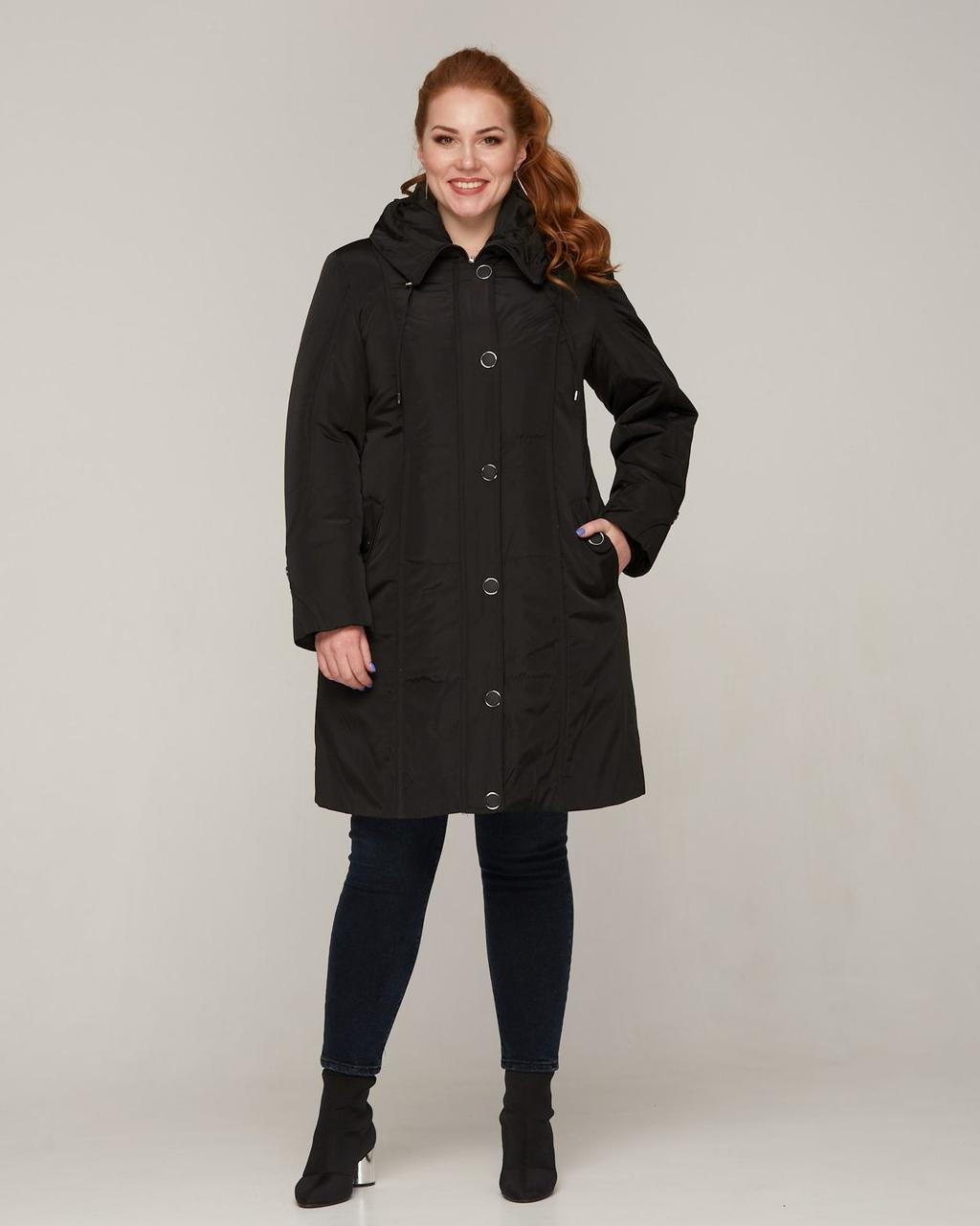 Якісна зимова куртка з підстібкою плюс сайз