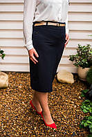 Классическая юбка-карандаш. Идеально сидит по фигуре, к низу слегка заужена. (р-р.48). Код 3129М