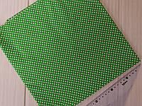 Отрез хлопка зеленый в мелкий белый горошек 3 мм. Размер отреза 50*50 см