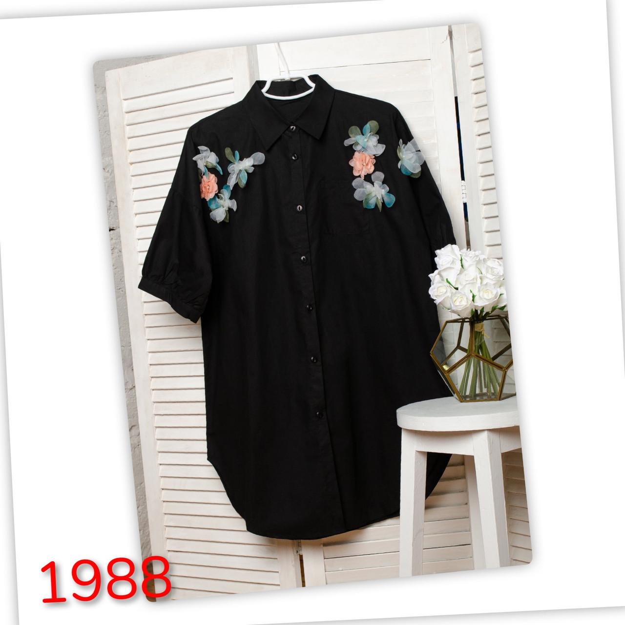 Весняна сукня-сорочка з квітами 44-54 (в кольорах)